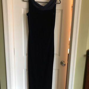 Gorgeous long velvet deep blue dress